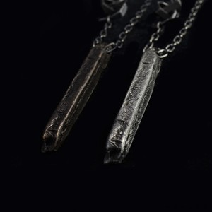 Line&Chain Necklace〈Bronze・Pewter〉-Amy Glenn-