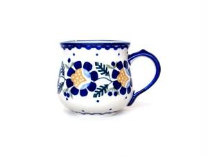 マグカップ220ml[青いお花/RU]