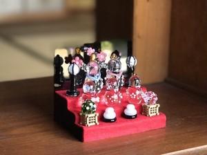 ガラス雛 五人飾り mini ※受注生産
