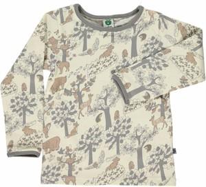 30%オフ smafolk 森の動物柄長袖シャツ