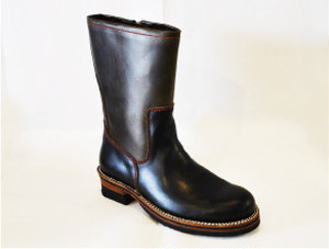 【High Line】ZIP ENGINEER BOOTS CHROMEXCEL BLACK/KHAKI GR-KE318B