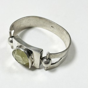 925 Silver & Peridot Color Bijoux Chunky Bracelet