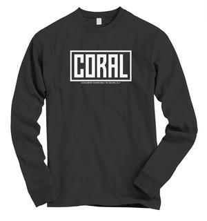 CORAL ロングTシャツ:ブラック