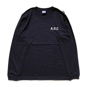 slogan long sleeve tee (rib) navy