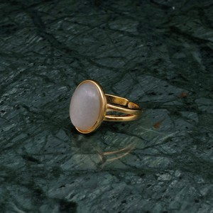 OVAL BIG STONE RING GOLD 005