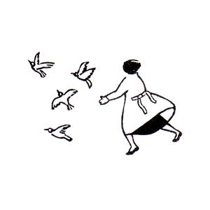 鳩を追う Chase after doves