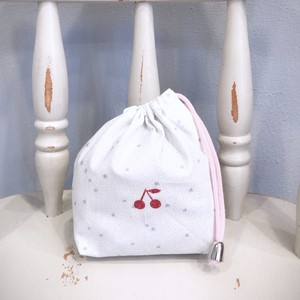 入園、入学 送料込み! ⑥巾着袋 コップ入れ キラキラ星 ピンク