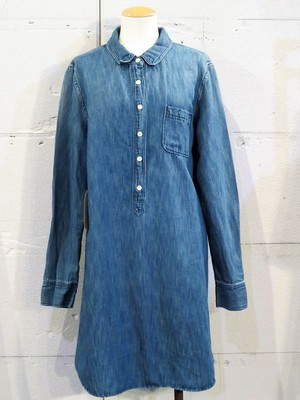 J.CREW DENIM SHIRT ONE-PIECE