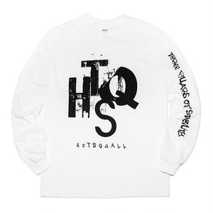 HTSQ  Long Sleeve Tee WHT×BLK