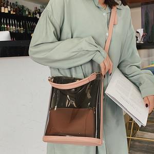 【バッグ】超人気ファッション配色切り替えシンプル大容量親子ショルダーバッグ33814034