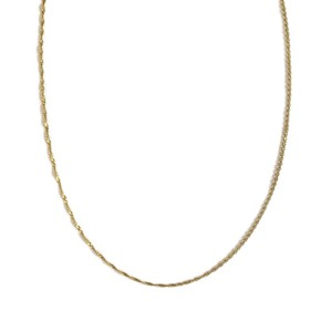 【14K-3-12】18inch 14K real gold chain necklace