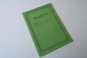 Quadernoノートブック-ライトグリーン-