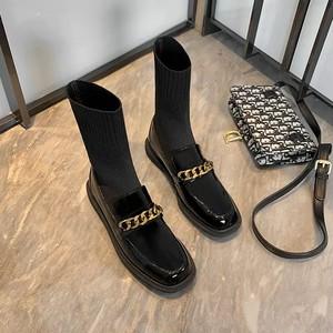 gold chain socks boots