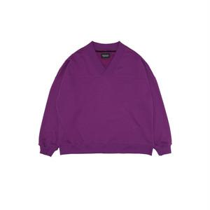 D-shoulder Triangle-neck Top_purple オーバーサイズフルオーバー