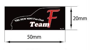 TEAM F ステッカー mini