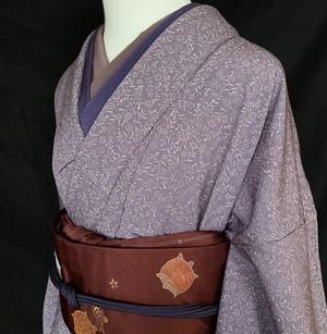 〈薄紫の小さな小さな菊の小紋〉上品 オトナ可愛い トールサイズ 送料無料