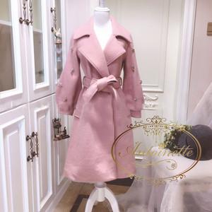 winter coat レディース かわいい 2色 ピンク ブラウン