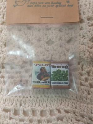 送料無料 アメリカ ミニチュア 食品 3個セット ラベル ドールハウス インテリア小物 4