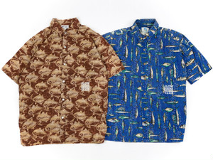"SLOW SQUAD SOUVENIR CLUB  ""Vintage Aloha shirts"" & patch"
