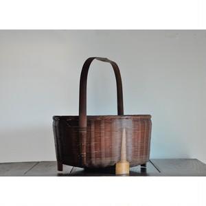 【 持手つき竹籠 】 古民具 / 古道具 / vintage / japan