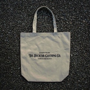 """DUCKTAIL CLOTHING """"SIGN TOTE"""" KHAKI ダックテイルクロージング キャンバス トートバッグ"""