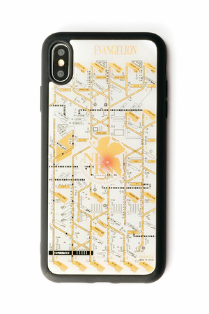 FLASH NERV iPhone XS Maxケース 白【東京回路線図A5クリアファイルをプレゼント】