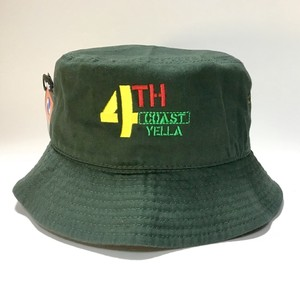 4THCoast Yella  Bucket Hat (Dark Green)
