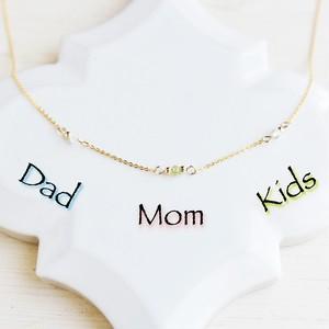【誕生石・14kgf ネックレス】家族を想うママのお守り