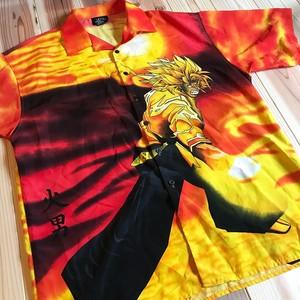 Late 90's X NY press アニメシャツ 火男 DEAD STOCK