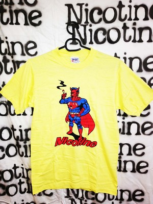 NICOTINE / SUPER MAN T-SHIRT