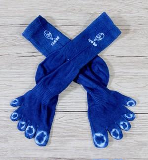 tenbo✖️エドサワヤ 絞り藍染5本指靴下 ★専用ラッピング付き★