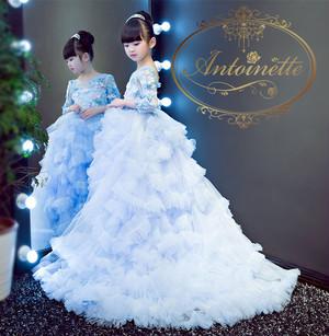 ロングドレス 子供用 かわいい きれい 発表会 イベント セレモニー フォーマルドレス キッズ ドレス