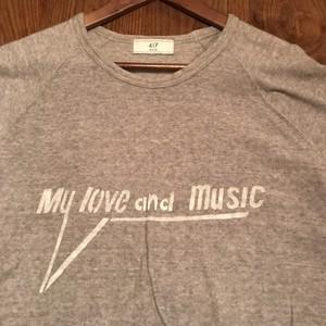 My Love & Music ステンシルパイル地Tシャツ