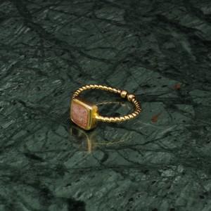SINGLE MINI STONE RING GOLD 024