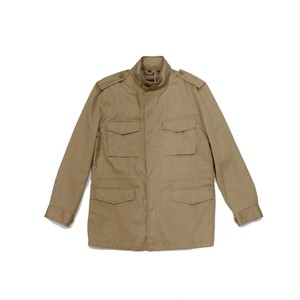 mock neck beige jacket
