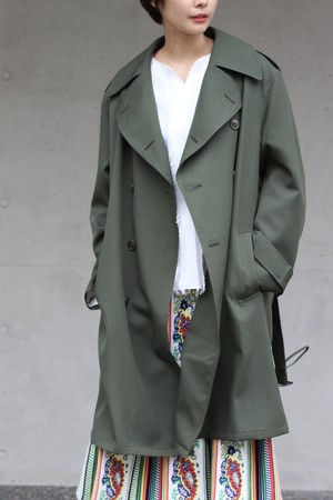 SALE対象商品【Needles】trench coat wool twill-khaki