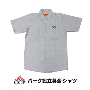 CONCRETE CIRCUS PROJECT (CCP) WORK SHIRTS (Grey) パーク設立募金シャツ