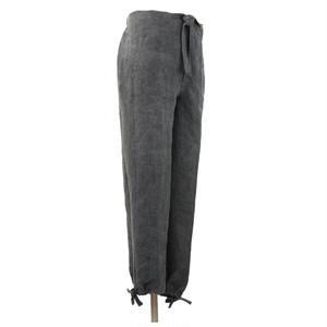 麻炭染 作務衣 ズボン ヘンプ100%