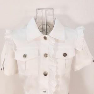 white denim jacket TOPS