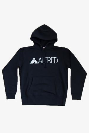 ALFRED ロゴ パーカー (ブラック)