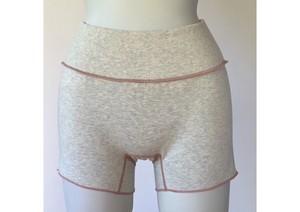 JUBAN DO ONI レディースボクサーパンツ グレー/ピンク糸