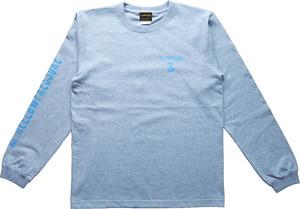 【HELLOWPRESSURE L/S tee】gray/blue