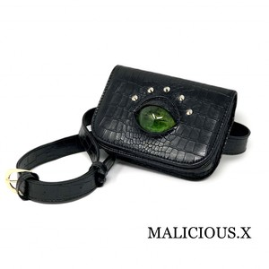 reptiles  eye waist bag / green
