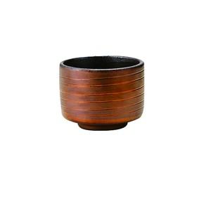 胴巻炭華ぐい呑型カップ内黒外銅〜土の温もりを感じる器〜