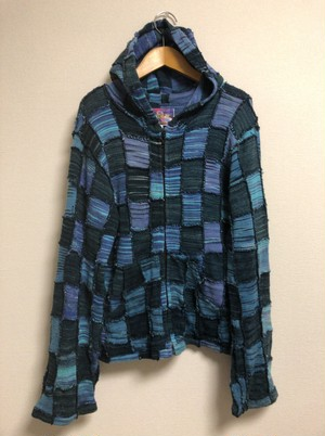 late90's〜early2000's NEW FUNK space patchwork knit parka
