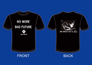 福岡 KIETH FLACK × STEP LIGHTLY:ドネーションTシャツ(黒)