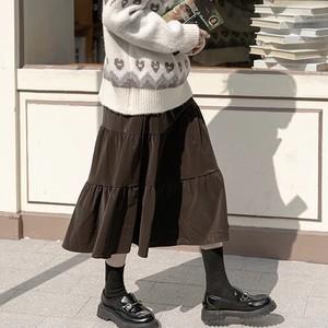 ベルベッドミルフィーユスカート U5114