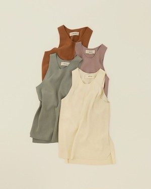 TODAYFUL トゥディフル Highgauge Knit Tanktop ミント 12010522