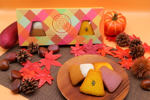 【秋限定フレーバー】フジヤマクッキー 6枚入り(マロン・紫いも・パンプキン)