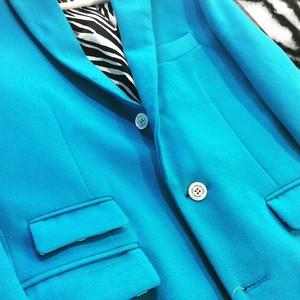 Sky Blue Wool Single Chesterfield Coat ブルー ウール チェスターシングルコート KQDYY1128